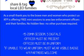 Tampa Free Photos For Police Families, mini sessions to thank those who protect us, Kristine Freed Photography