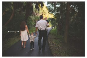 Tampa LEO family photos, Kristine Freed Photography