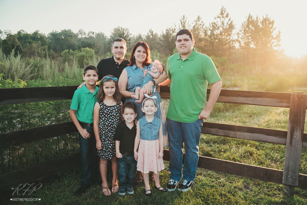 Tampa Outdoor Family Portraits, Kristine Freed Photography