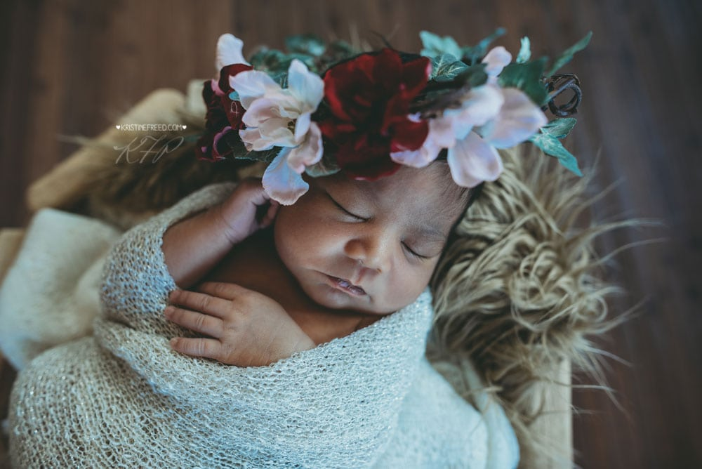 Newborn Floral Crown, Kristine Freed Photography
